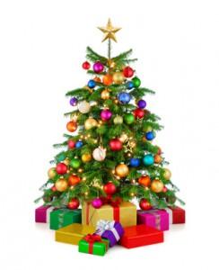 Weihnachtsbaum mit Geschenken weniger Weihnachtsstress