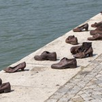 Schuhe am Donauufer in Budapest, Denkmal für im 2. Weltkrieg getötete Juden