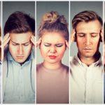 Menschen mit Kopfschmerzen Migräne